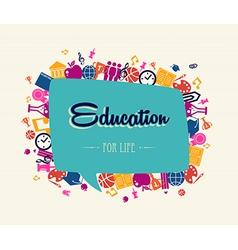 Education back to school social bubble global vector image