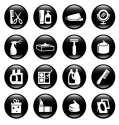 hygiene icons vector image vector image