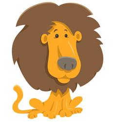 Lion cartoon character vector