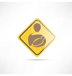 place for mothers with children yellow sign icon vector image