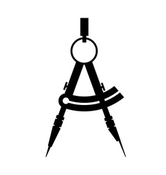 compass icon black and white vector image
