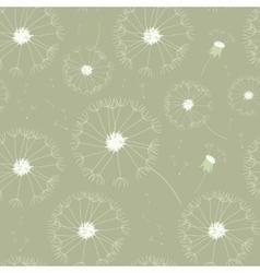 Seamless dandelions pattern vector image vector image