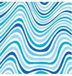 wavy striped ornament vector image vector image