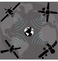 wireless satellite vector image vector image