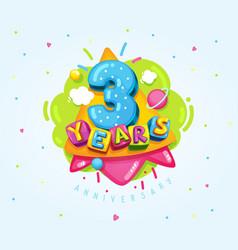 3 years vector image