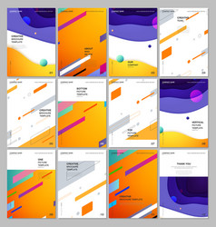 A4 brochure layout covers design template for vector