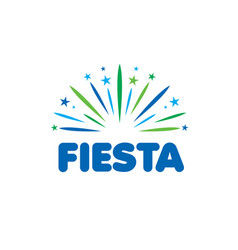 abstract logo for fiesta vector image