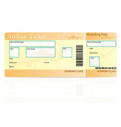 Airline ticket 04 vector