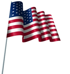 American Flag Waving Wind vector image
