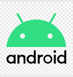 Android operating system logo vector