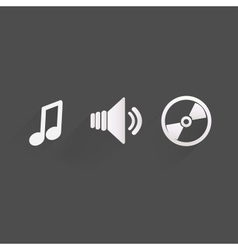 Background with music iconsflat design vector image