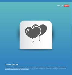 balloons icon - blue sticker button vector image