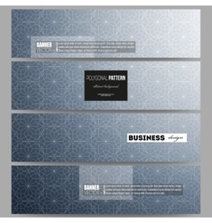 Banners set Abstract floral business background vector