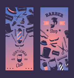 barbershop for vertical banner vector image