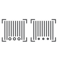 barcode line and glyph icon scanner and vector image