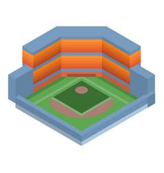 baseball arena icon isometric style vector image