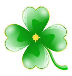 beautiful clover leaf vector image