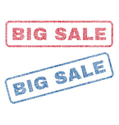 Big sale textile stamps vector