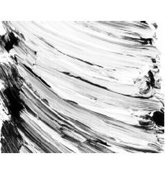 black halftone brushstrokes background vector image