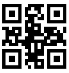 black qr code vector image