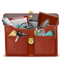 Briefcase with Accessories vector image