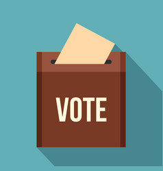 brown ballot box for collecting votes icon vector image