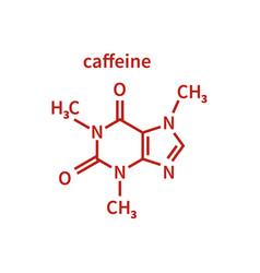 Caffeine milecule in line vector
