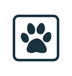 Cat footprint icon rounded squares button vector