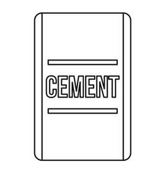 Cement icon outline style vector