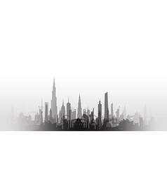 Cityscape with fade black vector