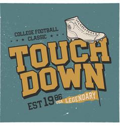 Classic college t shirt design american football vector