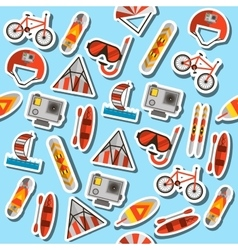 Colored extreme sports pattern vector image
