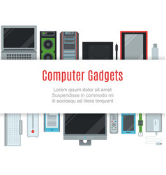 computer and gadgets connected mobile vector image