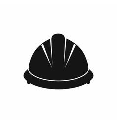 Construction helmet icon simple style vector