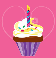 cupcake for birthday vector image