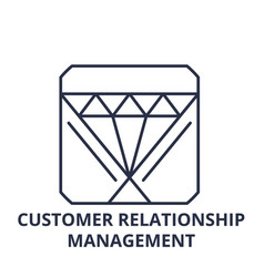 customer relationship management line icon concept vector image