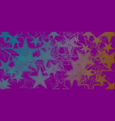 Dark purple metallic background in blue stars vector