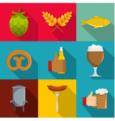 Deli icons set flat style vector
