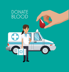 donate blood campaign vector image