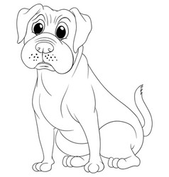 Doodle animal for bulldog vector