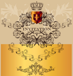 Elegant invitation card for design vector