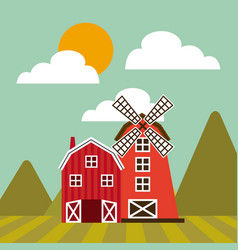 farm barn design vector image