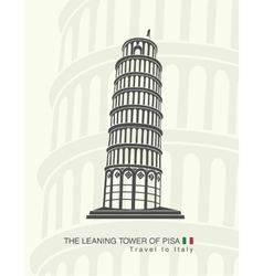 Figure leaning tower of Pisa vector
