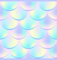 fish scale seamless pattern holographic effect vector image