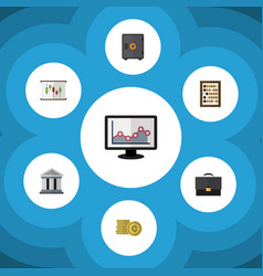flat icon incoming set of strongbox diagram vector image