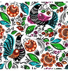 Folk painting seamless vector