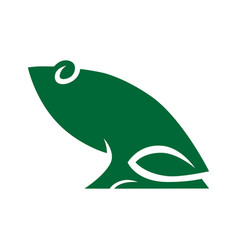 frog symbol icon on white vector image