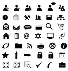 general web icons vector image
