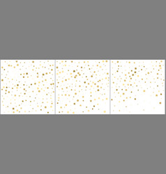 gold stars confetti celebration golden foil vector image