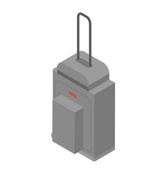 grey travel bag icon isometric style vector image